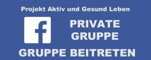 Facebook-Gruppe Projekt Aktiv und Gesund Leben