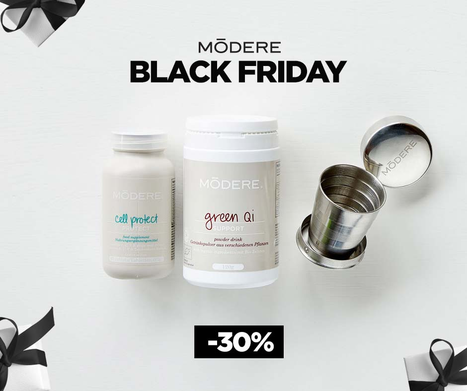 MODERE Black Friday 2020 Angebot Green Qi und Cell Protect